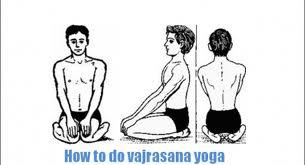 posturas de yoga, vajrasana o postura de diamante