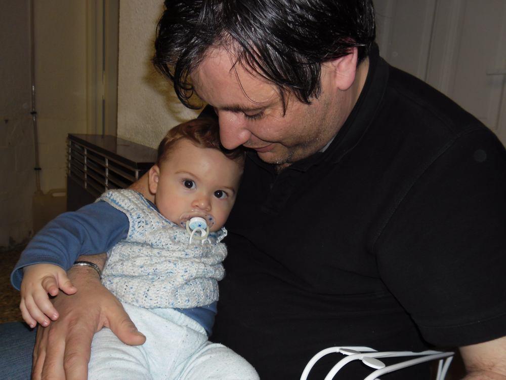 Lisandro con Nico en su visita a Buenos Aires