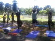 Clase de Yoga abierta y gratuita en Parque Centenario