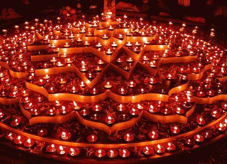 Fiesta de las luces en la India