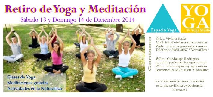 RETIRO DE YOGA Y MEDITACIÓN 2014