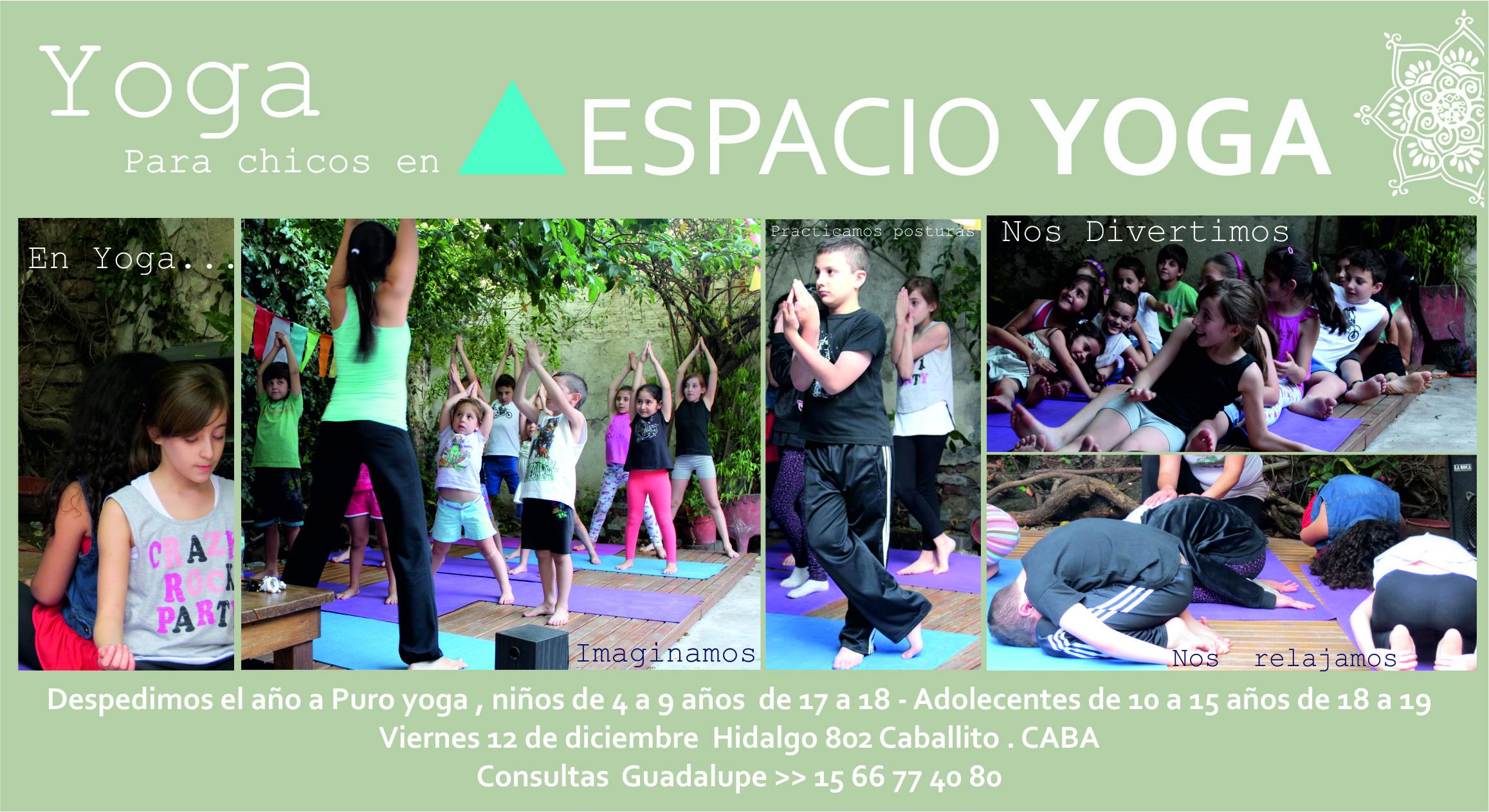 Diciembre: TALLER DE YOGA PARA NIÑOS Y ADOLESCENTES