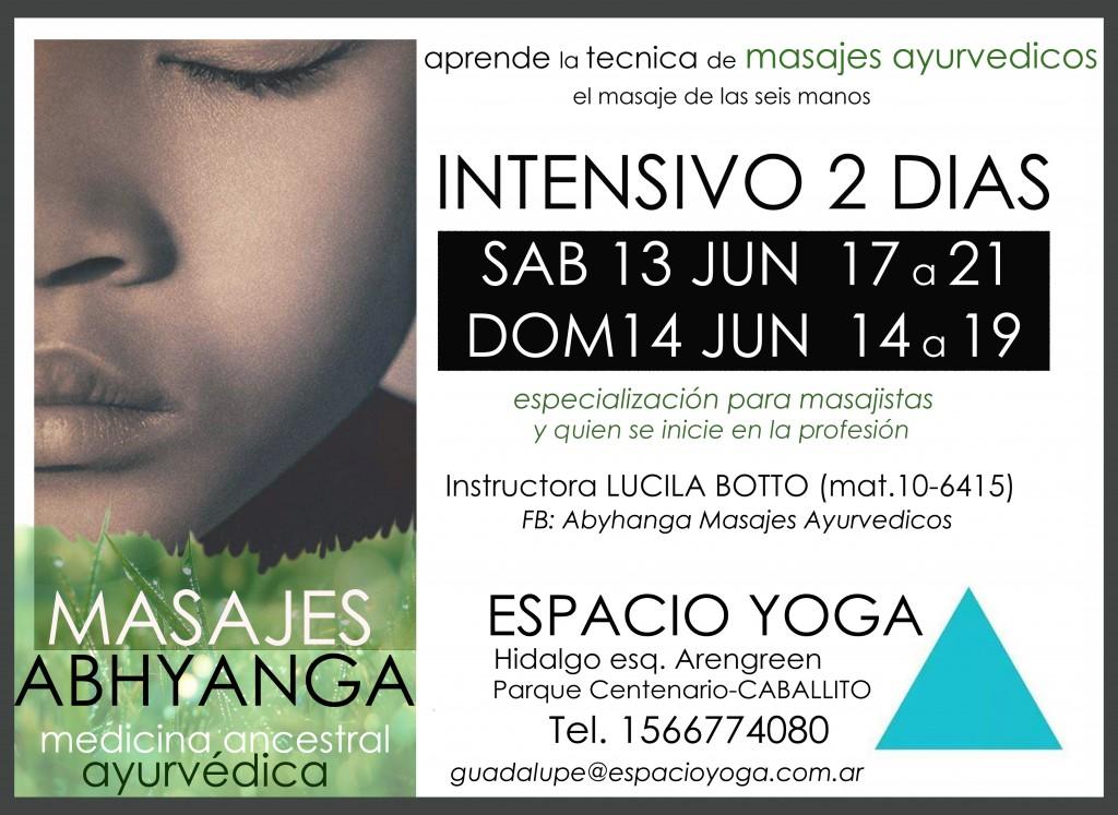 taller intensivo de masaje ayurveda