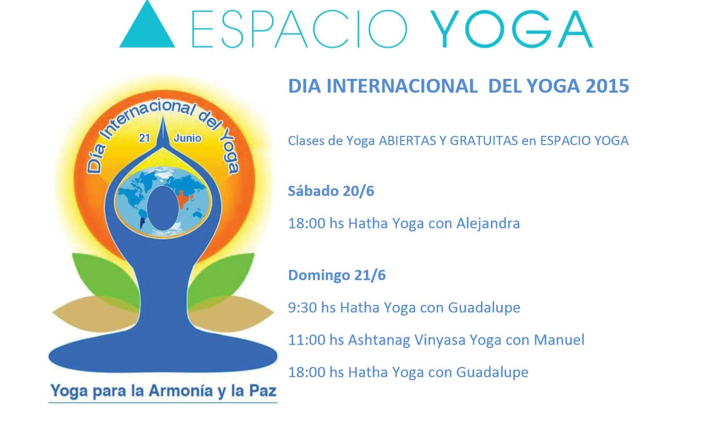 Día Internacional del Yoga · CLASES DE YOGA ABIERTAS Y GRATUITAS