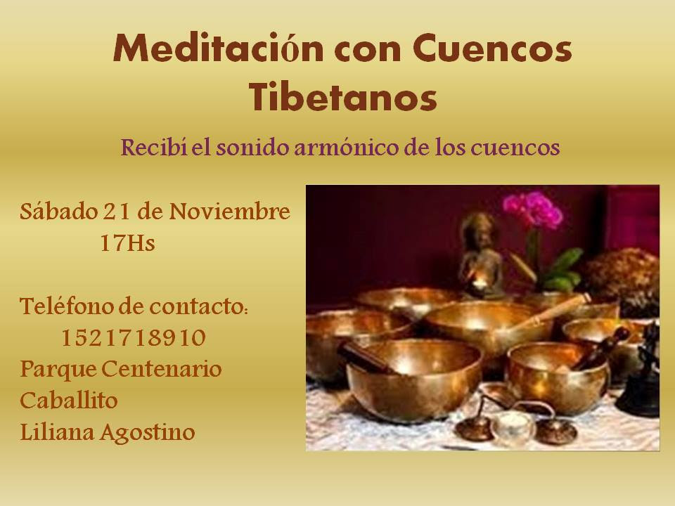 MEDITACIÓN CON CUENCOS – Encuentro de meditación y armonización