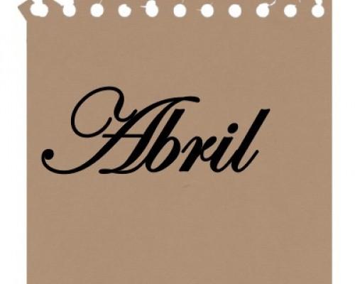 Agenda del mes de abril