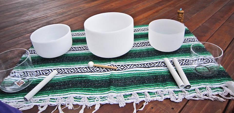 Relajación con Cuencos de Crsital de Cuarzo