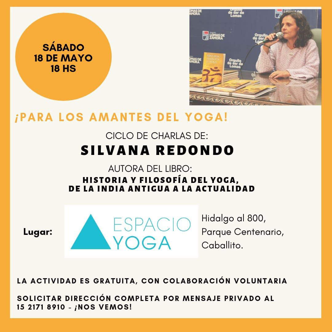 Especial! Charla sobre Filosofia del Yoga con Silvana Redondo